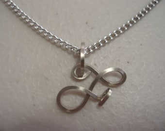 Wire Initial F Necklace