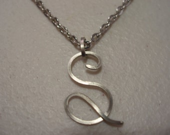 Wire Initial S Necklace