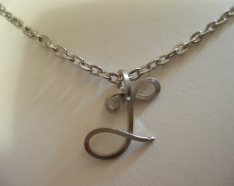 Wire Initial T Necklace