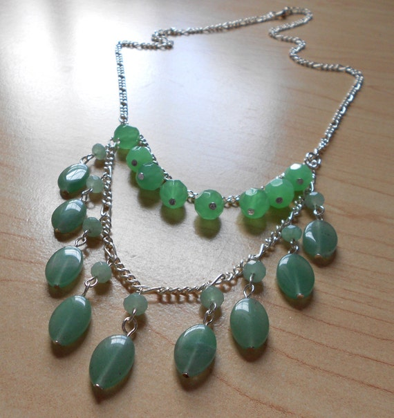 Serena Necklace in Green