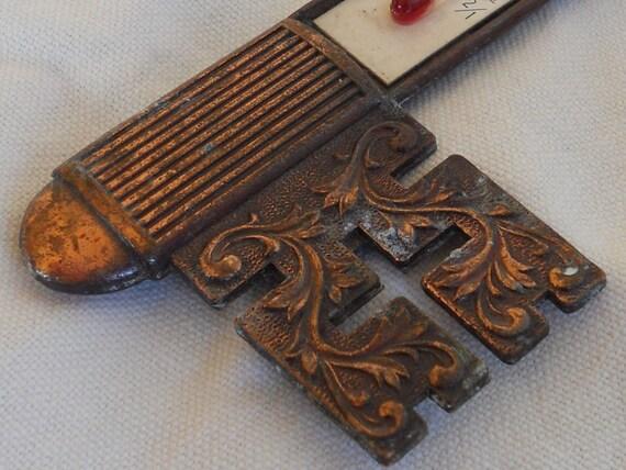 Vintage Copper California Souvenir 'Key' Thermometer