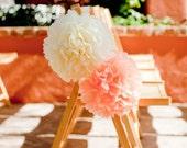 20 Wedding  tissue Poms- Chair decor