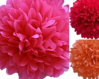 9 tissue poms- Girl Elmo