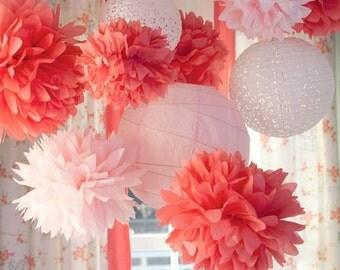 8 Nursery Tissue Poms