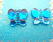 Ear Bling-Cobalt Blue Butterfly Post Earrings- great for adults and children