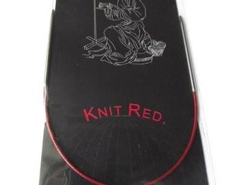 "9"" (23 cm) ChiaoGoo Original RED Circular Knitting Needles 9"" (23 cm)"