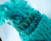 Warm Aqua: A scarf to remind you of the warm blues of summer. - ooak