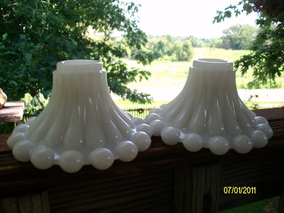 Milk Glass Wedding White Shabby Chic Vintage Candle Holders, Vintage Milk Glass