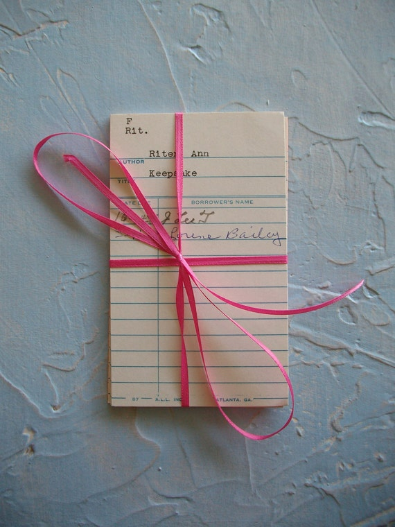 Vintage Library Book Cards