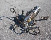 Scrap metal octopus sculpture