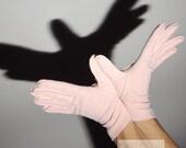 Pink Short Gloves Vintage 50s
