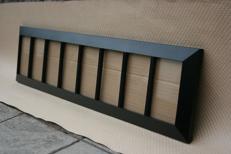 8 opening frame handmade black painted wood. Black Bedroom Furniture Sets. Home Design Ideas