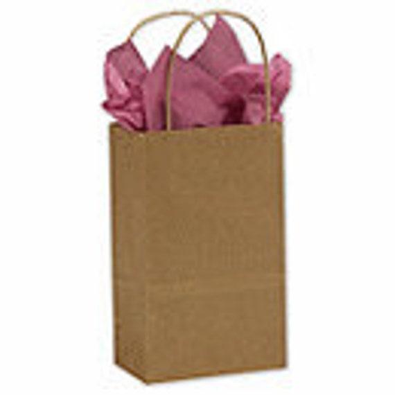 15 ea. Kraft Gift Bags with handles