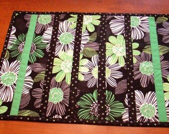 Four quilted placemats