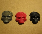 "3 Resin 1"" Skulls with Wreaths"