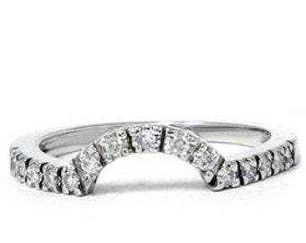 diamond ring enhancer 25ct guard band wedding engagement ring anniversary 14k white gold