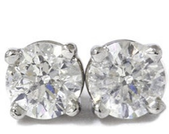 1.00CT Diamond Studs Platinum
