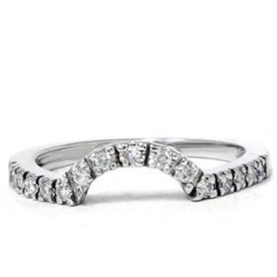 Diamond Ring Enhancer .25CT Guard Band Wedding Engagement Ring Anniversary 14K White Gold