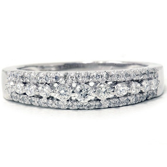 1/4CT Diamond Anniversary Ring 10K White Gold