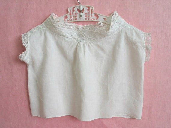 Victorian Ayrshire Lace White Cotton Child Under Blouse