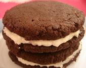 Gluten Free Vegan Chocolate Sandwich Cookies 6 Pack