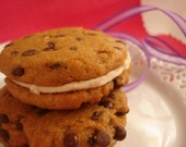 "Gluten Free Vegan Chocolate Chip Cookie Sandwich - 6 - 2 1/4"" Cookies"
