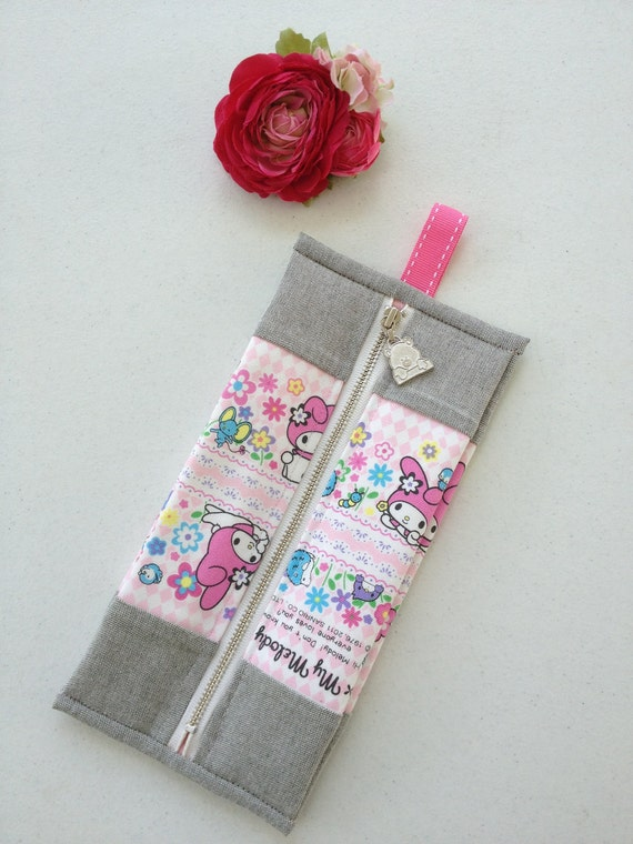 cute Box Drink Style  Makeup bag : Sanrio My Melody cotton canvas