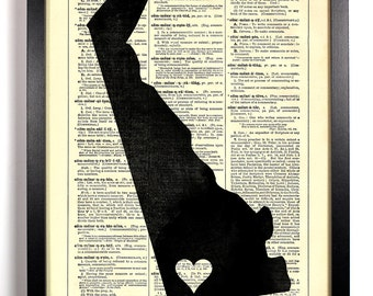 Delaware State Dictionary Book Print Upcycled Book Art Upcycled Vintage Book Print Antique Dictionary Buy 2 Get 1 FREE