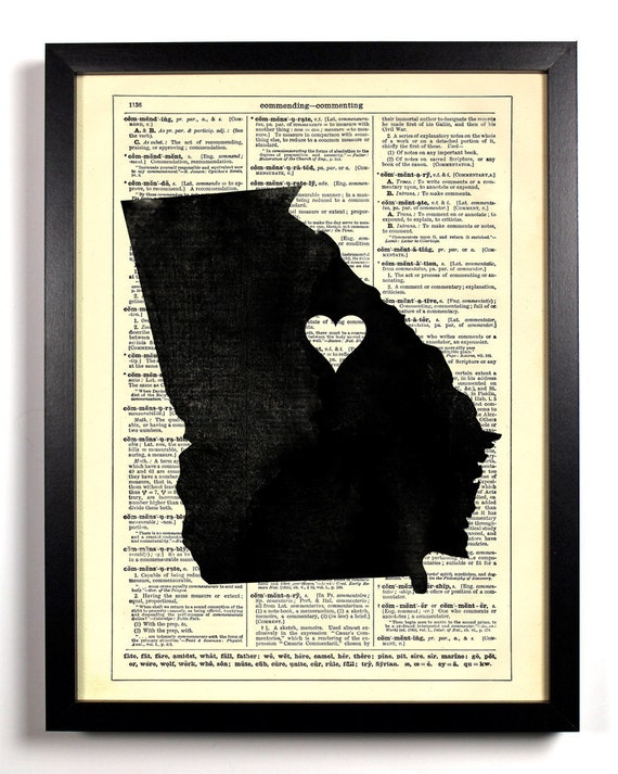 Georgia State Map, Home, Kitchen, Nursery, Bath, Office Decor, Wedding Gift, Eco Friendly Book Art, Vintage Dictionary Print 8 x 10 in.