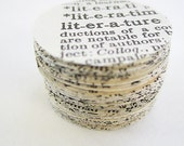 Vintage Dictionary Page Die Cuts - 100 - 1inch Circles