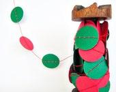 Christmas Garland - Red & Green