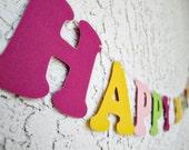 Happy Birthday Banner - Customizable Words Banner/Garland