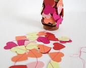 Heart Garland Spring/Summer Palate Pink Thread