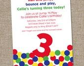 Ball Invitation, Bouncy Ball, Bounce House, Birthday Invitation, Ball Pit, PRINTABLE Digital file