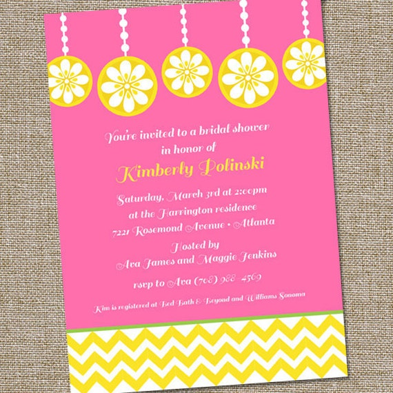 Pink Lemonade Bridal Shower Invitation, Pink Bridal Shower Invitation, Lemonade Bridal Shower, PRINTABLE, Lemonade Birthday Invitation