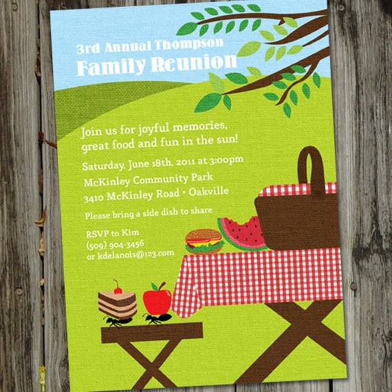 Picnic Invitation Picnic Invitations Printable Picnic Party