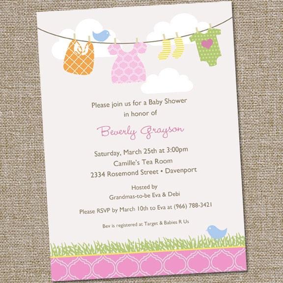 Baby Invitations Wording with amazing invitation sample