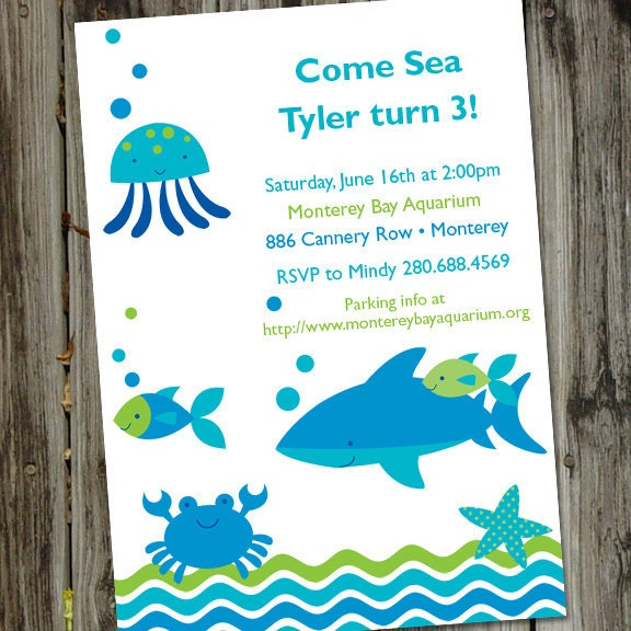 Ocean Baby Shower Invitations is adorable invitations example