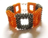 Orange and Silver Boxed Bracelet
