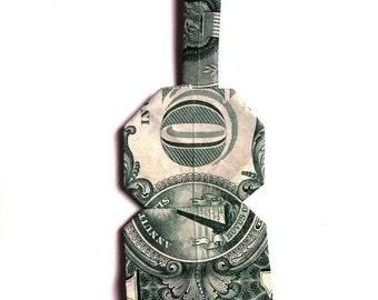 Music City Dollar Origami Guitar