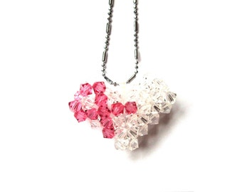 Heart for a Cause - Swarovski Breast Cancer Awareness Pendant Pattern / Tutorial