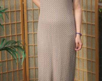 Beige tan or taupe long lacey dress by JESSICA HOWARD sz 14 formal semi formal