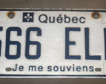 Quebec liscence plate 1982
