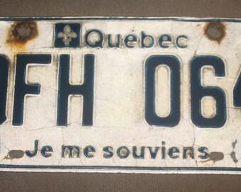 Quebec liscence plate 1992