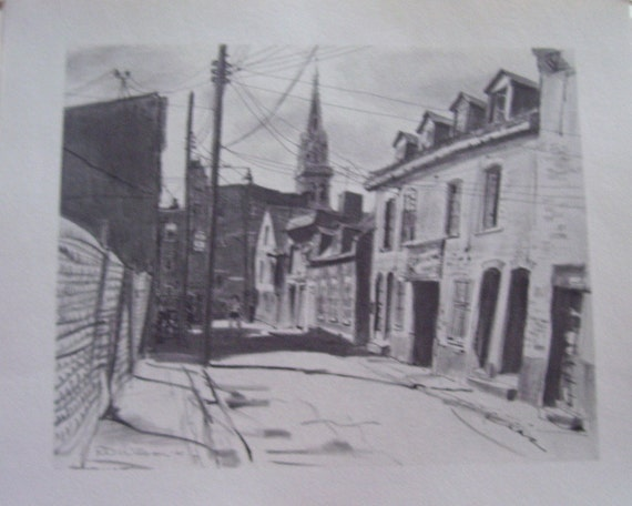 ESTATE SALE Vintage Drawings The living past of Montreal 1964 r.d wilson/e.mclean