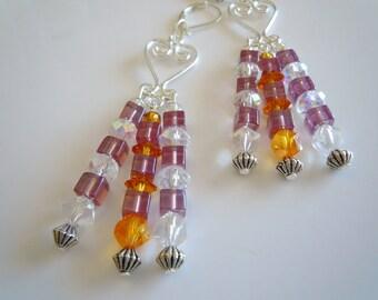 Crystal Beauty chandelier earrings  E272