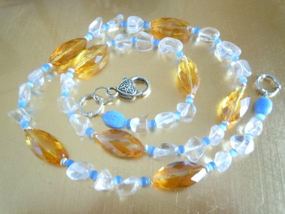 Gold crystal Sky light necklace