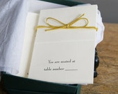 Place Cards for Table Seating Arrangements