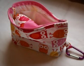 On the Go Reusable & Washable Toilet Seat Cover w/ Carry Bag - No More Little Hands on Public Toilets-Pink Owls