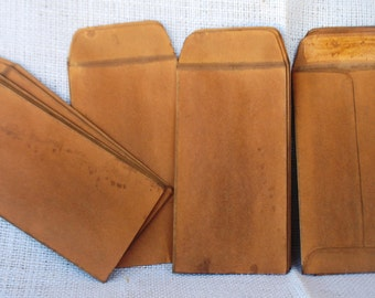 Aged Large Kraft Coin Envelopes